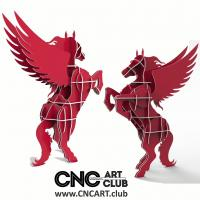Animals 1002 Pegasus Horse With Wings Shelf DXF File For CNC And Laser Cut
