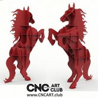 Animals 1002 Racking Horse Shelf DXF File For CNC And Laser Cut