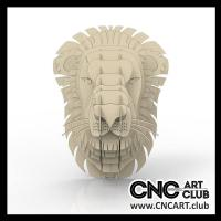 Animals 1008  Amazing Lion Head Constrcution Plan For Laser And Cnc Cut