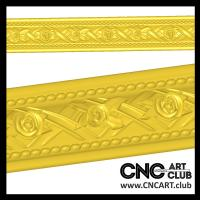 Baugettets 1003 Decorative CNC Carving Baugette For Frames STL File Download