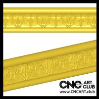 CNC carving 3D STL model. Download decorative baguette for frame