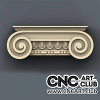 Capitel 1005 Download Decorative Capital Stl File For Cnc Woodworking Machine