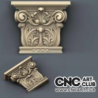 Capitel 1006 Classic Decorative Capital Stl File For Cnc Woodworking Machine