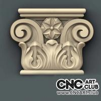 Capitel 1007 Antique Decorative Capital Stl File For Cnc Woodworking Machine