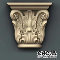 Capitel 1009 Decorative Floral Design Ready For Cnc Machining