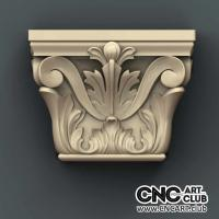 Capitel 1010 Antique Decorative Floral Design Ready For Cnc Machining