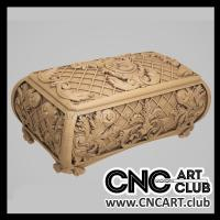 Luxury chest 3D design for CNC carving. Download woodworking file