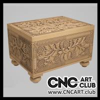Classic luxury chest design for CNC carving 3D STL file