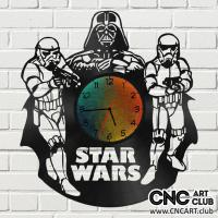 Clocks 1003 Star Wars Dart Vaider Clock Dxf Plan For Laser Amchine Cut