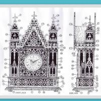 Clocks 1004 Church Style Old Wall Clocks Design For CNC And Laser