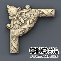 Corner 1003 Decorative Corner With Leaves For CNC Machining STL Model