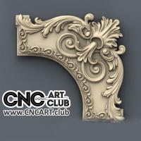 Corner 1004 Decorative Antique Corner Rounded For CNC Machining STL Model