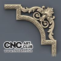 Corner 1005 Decorative Classic Corner Cnc Wood Working 3d Stl File