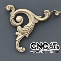 Corner 1006 Decorative Floral Classic Corner Cnc Wood Working 3d Stl File