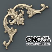 Corner 1007 Decorative Antique Corner Design Cnc Wood Working 3d Stl File