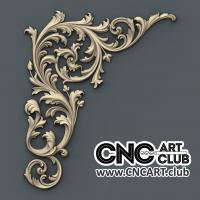 Corner 1012 Floral Decorative Design For CNC Machine Work. Download 3D STL File