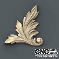 Corner 1013 Decorative Big Leaf Design For CNC Machine Work Download 3D STL File