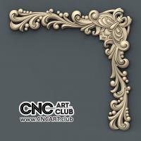 Corner 1014 Beautiful Decorative Corner Design For CNC Machine Work Download 3D STL File