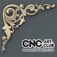 Corner 1015 Download Decorative Designs For Cnc Woodworking. 3D Stl File Of Floral Corner