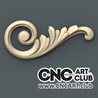 Corner 1016 Leaf Style Decorative Designs For Cnc Woodworking. 3D Stl File Of Floral Corner