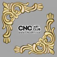 CNC 3D STL file of corner overlay