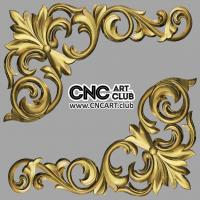 Decorative CNC 3D STL file of corner overlay element