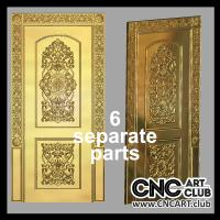 Ornamental luxury design of door. CNC carving design