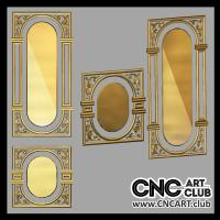Doors 1004 3d Decorations For Doors To Carve With CNC Machine