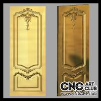 Doors 1005 Decorative Ornamental Stl File For Cnc Carving