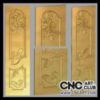 Classic style with Flower ornament door design. CNC carving.