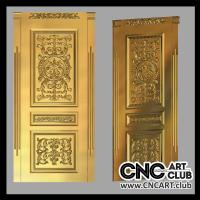 Luxury door design for woodworking. 3D model of door STL file