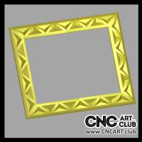 Frames 1003 Simple Decorative Frame 3D STL File For 3D CNC Machining