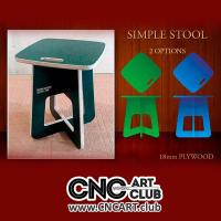 Furniture 1001 Download Free Stool Chair Plan To Cut With CNC And 18 Mm Plywood