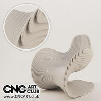 Furniture 1004 Abstract Wave Design Style Chair Sofa Plan To Cut In CNC Machine