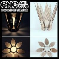 Lamp 1002 Amazing Flower Lamp Plan For Laser And Cnc Machining Download Free