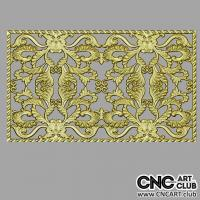 Lattice 1002 Download Free Decorative 3D Floral Lattice Design For CNC Machining Ready To Cut