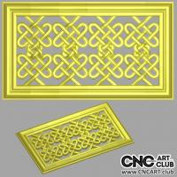 Lattice 1004 Decorative Framed Lattice Divider For CNC Woodworking Machining