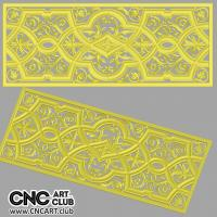 Lattice 1008 Classic Style Frame Floral Decorative 3D Lattice STL File For Cnc