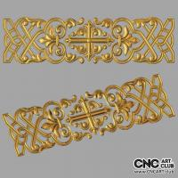 Lattice 1015 Decorative Lattice 3D Design With Christian Cross Ready For Cnc Routing