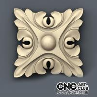 Rosette 1002 Interior Decorative Rosette Design For CNC Machining. Download Stl File