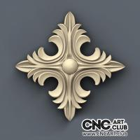 Rosette 1003 Sharp Decorative Rosette Design For CNC Machining. Download Stl File