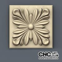 Rosette 1006 Decorative Rosette For Luxury Interior. 3D STL File For Cnc Machining