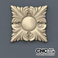 Rosette 1007 Small Decorative Rosette For Luxury Interior. 3D STL File For Cnc Machining