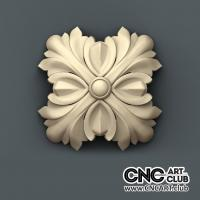 Rosette 1009 Download 3D STl File Of Decorative Rosette For Cnc