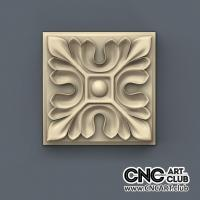 Rosette 1010 Square Interior Download 3D STl File Of Decorative Rosette For Cnc