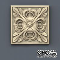 Rosette 1011 Square Interior Download 3D STl File Of Decorative Rosette For Cnc