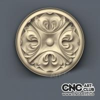 Rosette 1015 Antique Round Decorative Rosette For Wood Master To Cut In CNC Machining