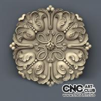 Rosette 1016 Amazing Decorative Art File For CNC Machining Download 3D Stl Files