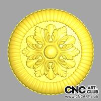 Rosette 1020 Decorative Rosette Round For Interior 3d STl File