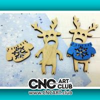 Toys 1005 Small Toy Deer Plan For Laser Machine Cut